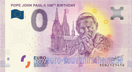 XENJ-2020-1 POPE JOHN PAUL II 100th BIRTHDAY